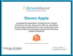 Steven-Apple-ScrumAlliance_CSPO_Certificate