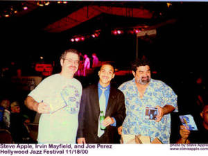 Steve Apple, Irvin Mayfield, Joe Perez. Hollywood Jazz Festival 11/18/2000
