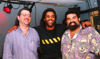 Steve, Kenny Neal and Joe at Tobacco Road, Miami (11/14/97)