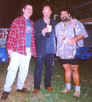 Steve, John Mooney and Joe at Riverwalk Blues Fest, Ft Lauderdale (11/7/97)