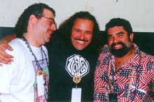 Steve, Terrance Simien and Joe at Tobacco Road 85th Anniversary Festival, Miami (11/15/97)