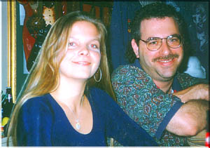 Theresa Andersson and Steve at Back Room, Delray Beach (11/13/97)