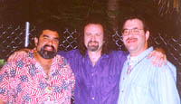 Joe, Tinsley Ellis and Steve at Riverwalk Blues Fest, Ft Lauderdale (11/9/97)